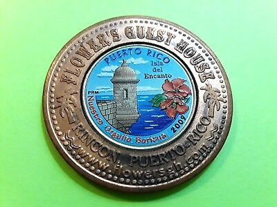 BOY SCOUTS COLORIZED QUARTER Encased Lucky Penny GUEST HOUSE Rincon PUERTO RICO