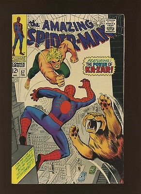 Amazing Spider-Man 57 FN+ 6.5 * 1 Book * Coming of Ka-Zar by Lee, Romita & Heck!