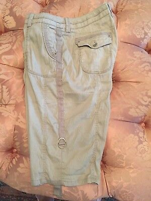 Chico's Women's Casual Shorts Size 2 Khaki Color Ladies Size 12 to 14 Large
