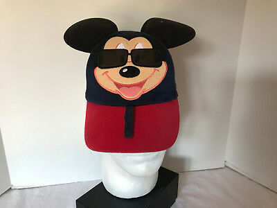 Disney Mickey Mouse Baseball Hat Cap Toddler Navy and Red with. Mouse Ears