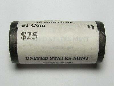 Mint Roll of 2015-D Native American / Sacagawea Dollars BU Uncirculated 25 Coins