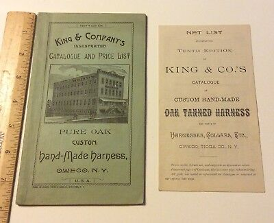 Rare 1800's Horse Harness Catalogue Price List King Co. Owego NY Illustrated 72