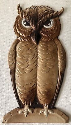 Antique German Die Cut Halloween Wise Spooky Creepy Owl Wall Party Decoration