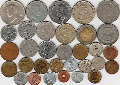 32 different world coins from PHILIPPINES some scarce