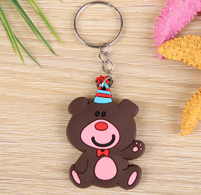 Hot new Creative Cute Keychain Creative Lovers Cartoon Animal Key Ring YSK33
