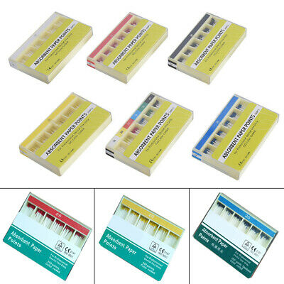 200Pcs Dental Material Absorbent Paper Points Sterile 6 Size For Dentist Cotton
