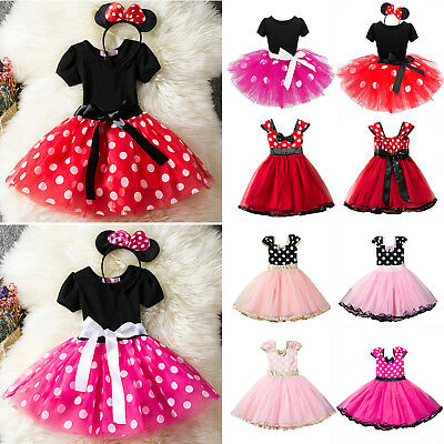 Baby Girls Toddler Minnie Mouse Tutu Skirt Outfit Clothes Fancy Dress Cosplay US