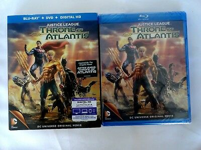 Justice League Throne of Atlantis w/slipcover (Blu Ray / DVD, 2015) brand new