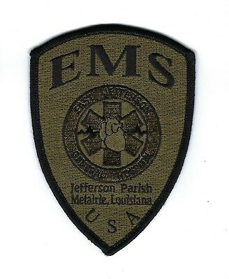 East Jefferson General Hosp. - Metairie LA Louisiana EMS Subdued patch - NEW!