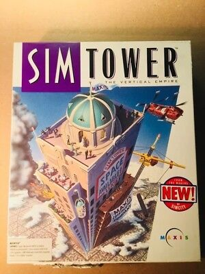 "Sim Tower by Maxis for Macintosh, 3.5"" Floppy disks, complete w/manual, UNTESTED"