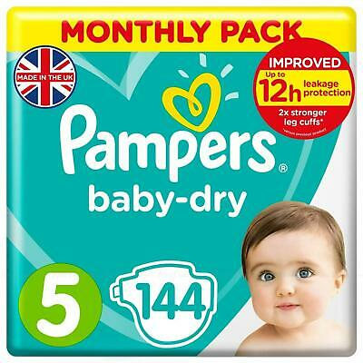 Pampers Baby Dry Air Channels Nappy 11-18Kg Junior Size5 - Giga Pack 108 Nappies