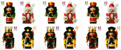 2008 42c Holiday Nutcrackers, Booklet of 20 Scott 4360-4363 Mint F/VF NH
