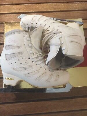 Edea Piano Figure Skates size 235 (approx. UK Size 2.5) with Pattern 99 Blades