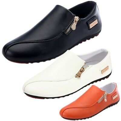 US Fashion Men's Casual Shoes Breathable Flat Leather Slip On Loafers Moccasins