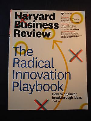 Harvard Business Review -  October 2013 - The Radical Innovation playbook