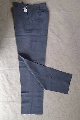 Vintage retro 50s boys 12 years wool blend grey pants unused NOS rockabilly