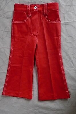 Vintage retro 60s 2 years girls toddler red stretch pants unused NOS Jo-Togs