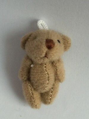 3 x miniature jointed teddy bears dolls house gift bags crafts
