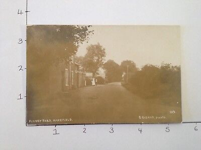 Authentic B&W Photo Post Card - Vintage - Pinner Road, Harefield - FREE OZ POST
