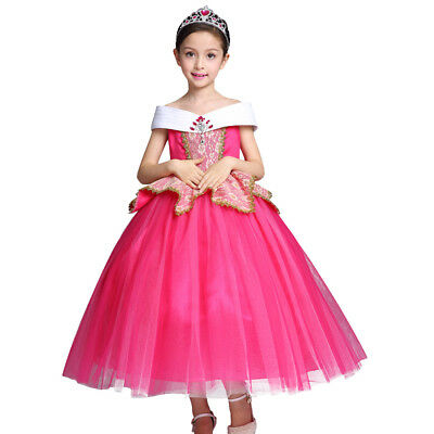 Fancy Princess Aurora Costume for Girl Kid Sleeping Beauty Party Cosplay Dress