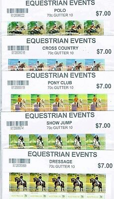 2014 Equestrian Events / 5 Gutter 10 Blocks / full set.