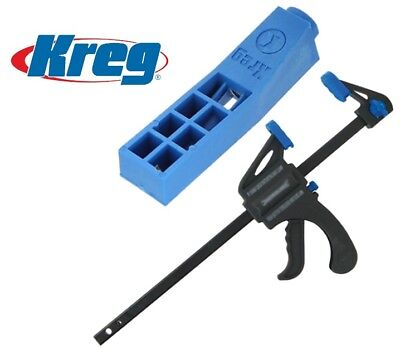 NEW Kreg Mini Pocket Hole Jig Drill Guide MKJ + Free Quick Clamp Fast delivery