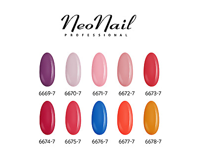 NEONAIL 110 FARBEN UV LED Nagellack 6ml Nagellacke Shellac UV Gel Lacke Base Top