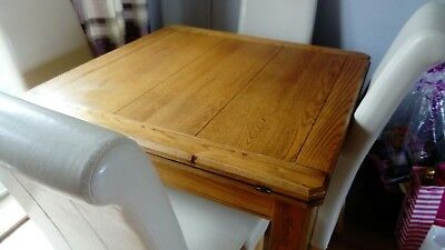 Used Solid Oak Dining Table And Chairs Extendable 100 00