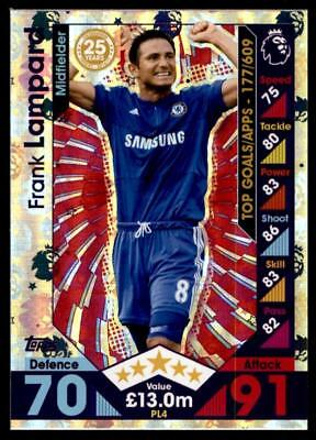 Match Attax 2016-2017 EXTRA Frank Lampard Chelsea Premier League Legends No.PL4