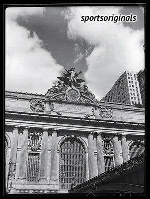 "Original 4"" x 5"" B&W Negative - GRAND CENTRAL STATION - NEW YORK - 1938"