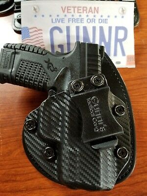 Fits Springfield Armory Models  Iwb Hybrid Holster Kydex/ Leather Concealed  Ccw