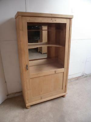 A Quality Victorian Antique/Old Pine Display/Collectors Cabinet to Wax/Paint