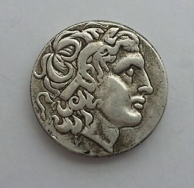 Rare Ancient Alexander III the Great 336-323 BC Silver Plated Drachm Greek Coin