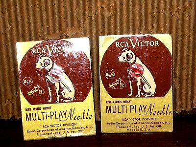 """RCA Victor NIPPER Multi PLAY """"Atomic Weight"""" Phonograph Needle Electric - windup"""