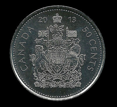 2013 CANADA 50 CENTS  Half Dollar COIN Uncirculated from roll