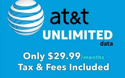 AT&T Unlimited 4G LTE Data!!!$29.99 Per Month Hotspots/Tablets/Phones!!!