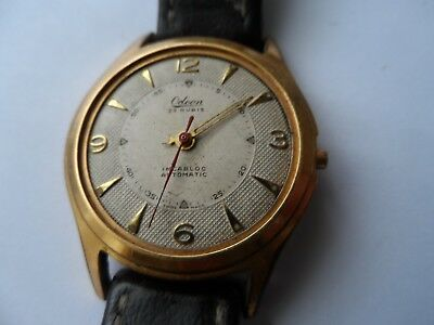 Vintage Odeon 25Jewels Automatic Gold Plated Swiss Made Men's Watch,-Not Working