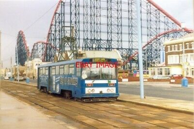 Photo  1994 Blackpool Tram And A View Of The Hair-Raising Ride