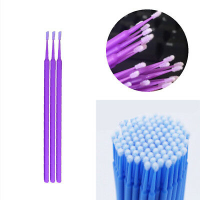 100x Mini Touch Up Paint Micro Brush Large/Small Tips - Micro Applicators 1/2mm