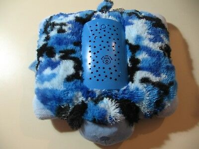 "12"" x 9"" plush Blue Puppy Dog by Pillow Pets Dream Lites, good condition"