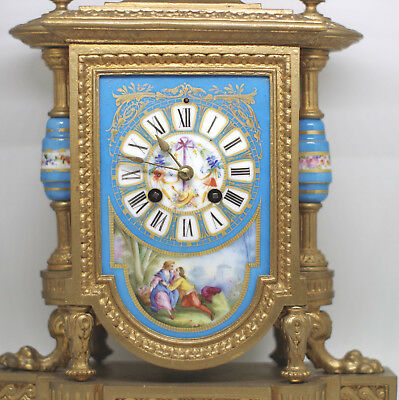 1869 French Clock PH Mourey & Japy Beautiful Clock Original Working Condition