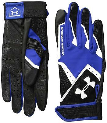 Under Armour UA Clean Up IV Mens Blue Black Batting Gloves Baseball Small