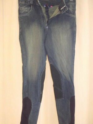 Hac Tac Faded Stretch Denim Breeches Waist 32 inches, Length 30 inches