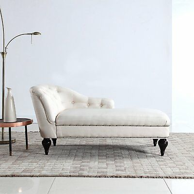 Modern Tufted Chaise Lounge For Living Room Or Bedroom Victorian