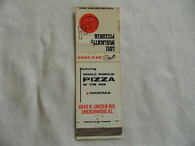 Lincolnwood Illinois Cook County food & beverage low # matchcover matchbook