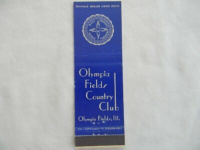 Olympia Fields Illinois Cook County golf country club matchcover matchbook