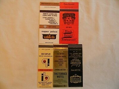 Oak Forest Illinois Cook County businesses matchcovers matchbooks