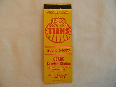 Oak Park Illinois Cook County Shell gas service station low # matchbook