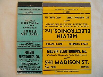 Oak Park Illinois Cook County electronics distributor low #s radio TV matchbooks