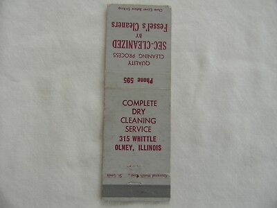 Olney Illinois Richland County cleaners low # matchcover matchbook